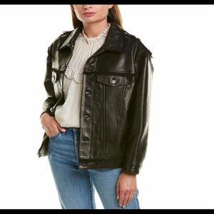 IRO Else Leather Jacket Size 40 (size 8) NWT
